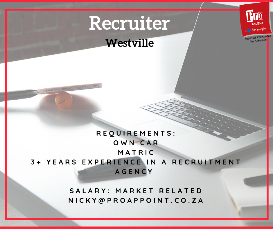 position available recruiter